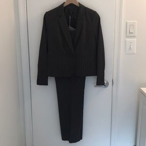 Worthington petite gray pinstripe suit